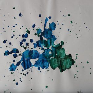 ABSTRACT WATERCOLOR PAINTING BY KARTER KOHLER